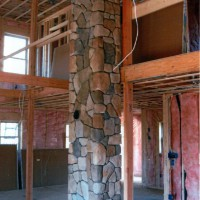 Cultured Stone Indoor Chimney