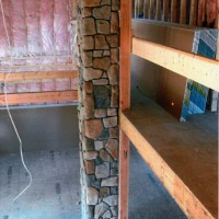 Interior Cultured Stone Indoor Chimney