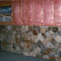 Stonework veneer on a residential home