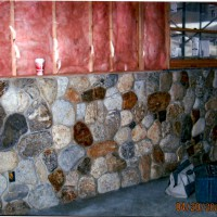 Custom stonework wall for structure and beauty