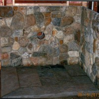 Custom stonework surround