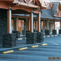 MW Masonry crafted stonework for this shopping center