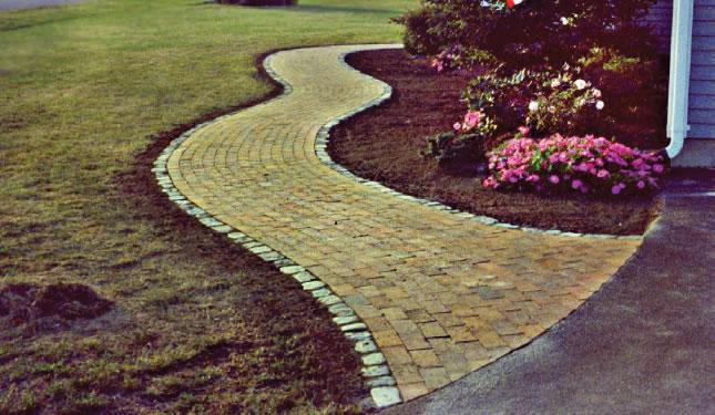 MW Masonry brick walkway