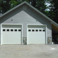 Custom Masonry on Residential Garage