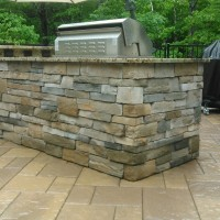 Outdoor Stone Kitchen Grill