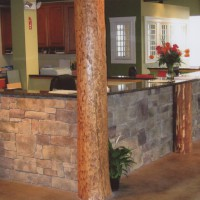 Commercial property indoor stonework