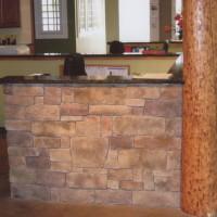 Interior stonework veneer on this reception area