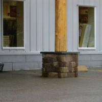 Stone columns for structural beauty