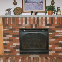 MW Masonry brick fireplace