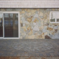 Maintenance free stonework beautifies this home.