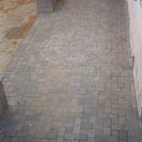 Brick walkway and patio inlay