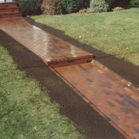 Brick Walkway gives curb appeal to your Maine home