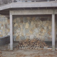 Stonework exterior adds functional beauty