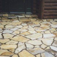 Stone patios and walkways