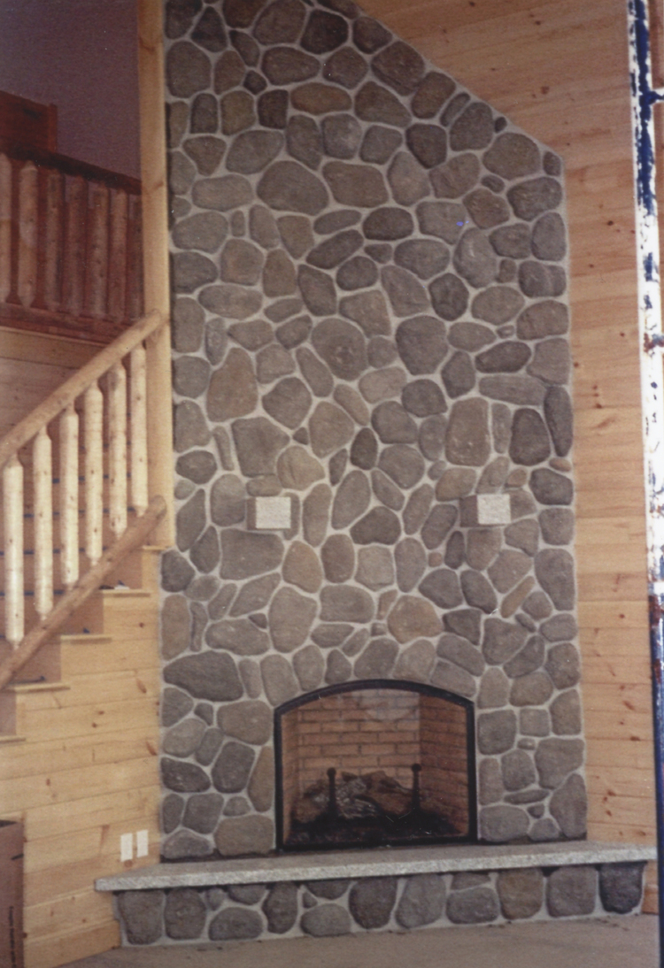 River rock fireplace pictures - Quality Stone And Brick Chimneys And Fireplaces Mw Masonry Inc