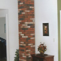 Indoor Brick Chimney