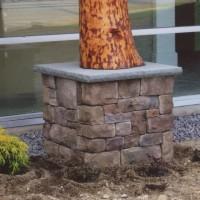 MW Masonry stone sign posts