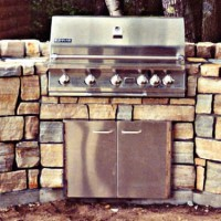 MW Masonry outdoor kitchen with grill