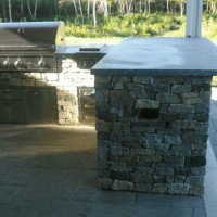 Stone countertop for outdoor kitchen