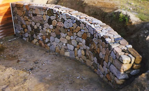 Retaining walls and stone walls portfolio