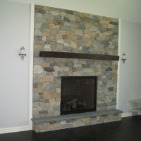 Custom stone fireplace maine masonry