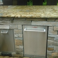 Outdoor Kitchen with Refrigerator