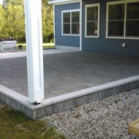 Outdoor stone patio and walway