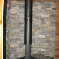 Stone Wall for Sauna