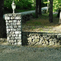 Custom Stone Wall and Pillar by MW Masonry